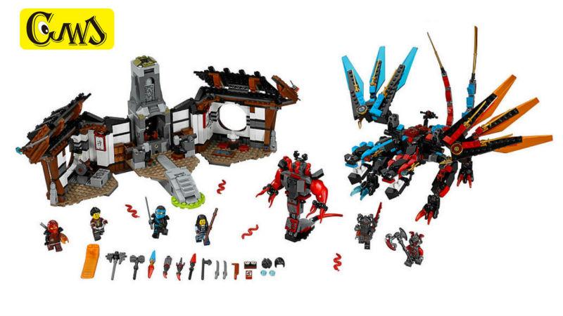 Legaoes NinjagoINGlys Masters of Spinjitzu of Dragon's Forge Blocks Brick Toy For Children Compatible 70627  06041 1158Pcs battle of the masters liverpool masters arsenal masters