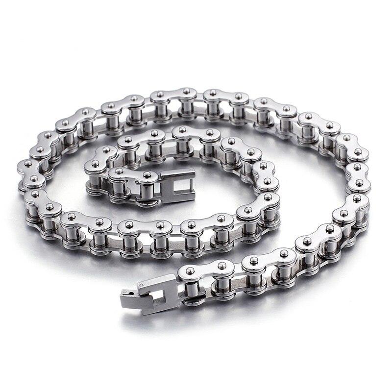 Производители оптом тренд мужские изделия из титановой стали Велоспорт модное ожерелье с цепочкой велосипедная цепь ювелирные изделия из
