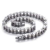 Manufacturers wholesale trend men titanium steel cycling chain fashion necklace bicycle chain stainless steel jewelry