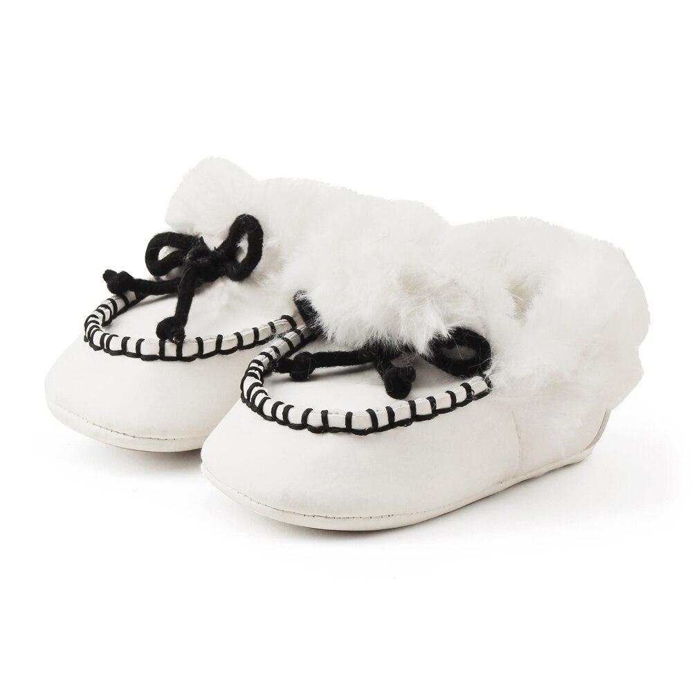 Delebao pluizige winter baby laarzen warme pasgeboren lace-up peuter - Baby schoentjes - Foto 3