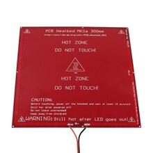 Anycubic 300*300*2.0 мм MK2A RepRap РАМПЫ 1.4 ПЕЧАТНОЙ ПЛАТЫ Heatbed MK2A с led Резистор и кабель для Мендель 3D принтера горячей постели diy