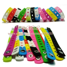 Wholesale 500pcs 17 Colors Silicone Bracelet Wristband 18cm Fit Shoe croc Buckle shoe charms shoe accessories kids party gift 16pcs mickey minnie pvc shoe charms shoe accessories shoe buckle for wristbands croc kids favor gift