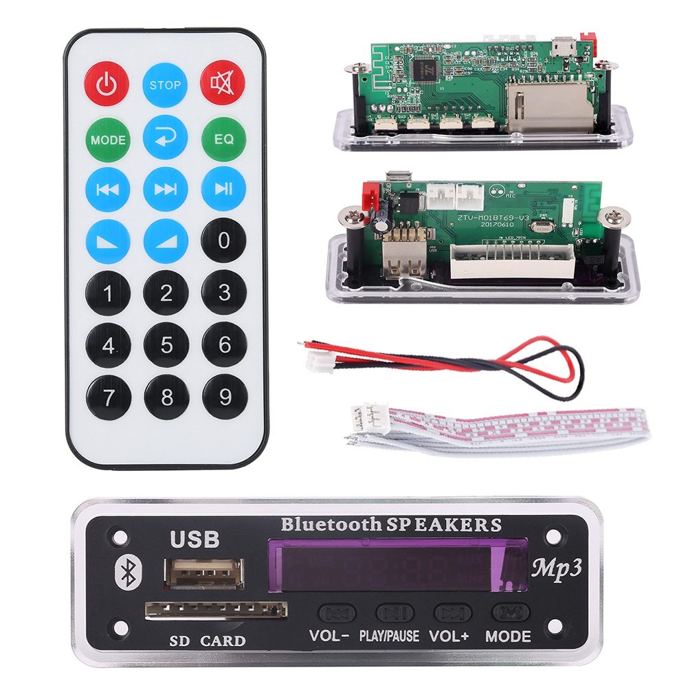 <font><b>Bluetooth</b></font> <font><b>MP3</b></font> Decodierung Bord Modul w/SD Card Slot/USB/FM/Fernbedienung Decodierung Bord Modul image