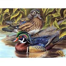 Алмазная 5d картина «сделай сам» «утки в озере» полная вышивка