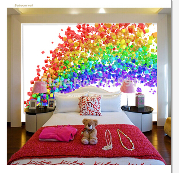 Free Shipping Custom 3D Rainbow Flow Wall Mural Wallpaper TV Mural Bedroom  Sofa Backdrop Wallpaper In Wallpapers From Home Improvement On  Aliexpress.com ...