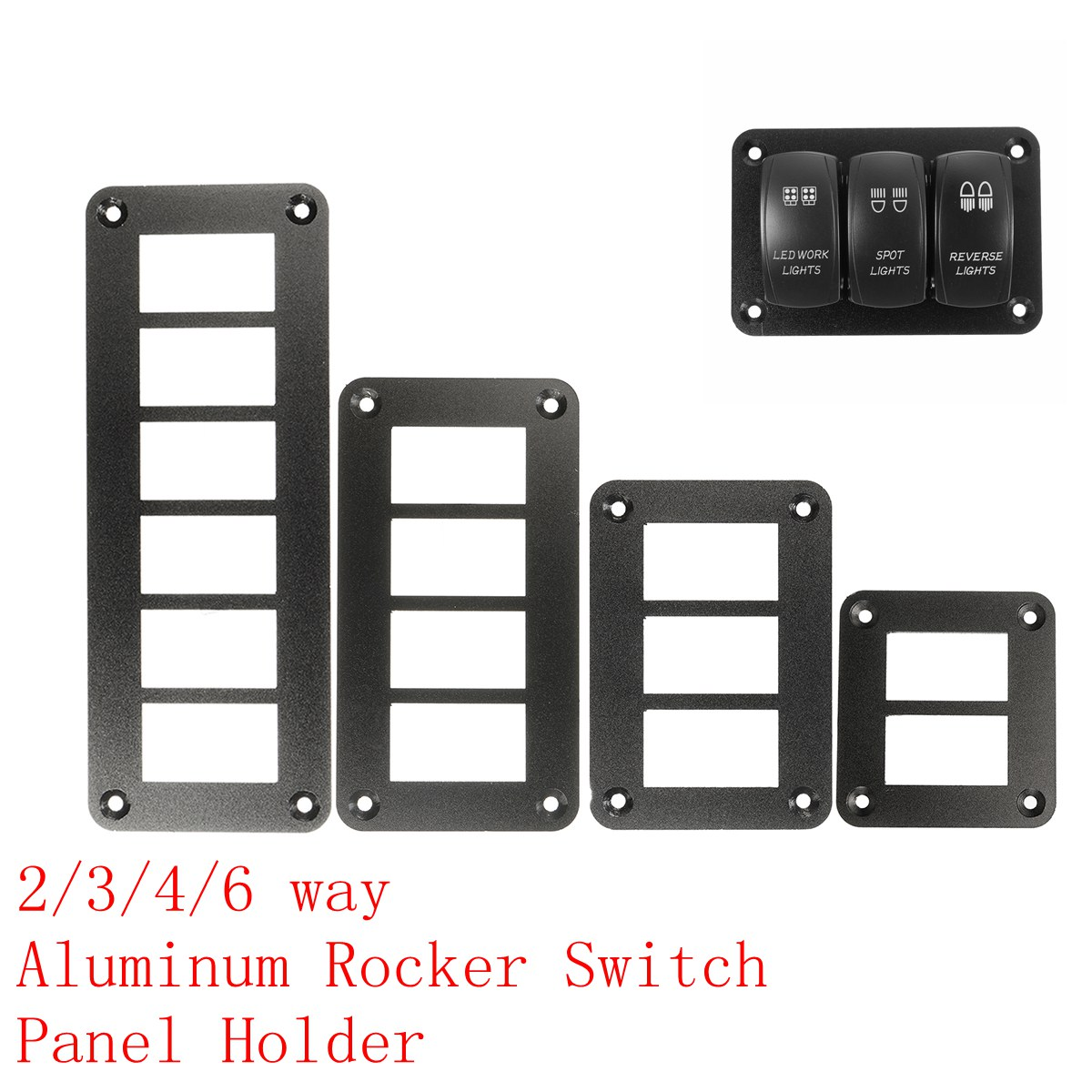 2/3/4/6 Way Aluminum Rocker Switch Panel Housing Holder FOR ARB Carling Narva Boat Type Auto Parts Switches Parts