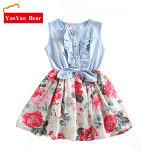 Summer Baby Girls Dress Toddler Girls Denim Dresses Kids Princess Dress baby girl birthday dress infant party clothing 24m to 10