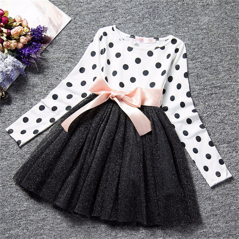 Winter Girl Long Sleeves Dress Kids Tulle Costume For