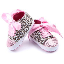 Toddler Baby Girls Shoes Floral Leopard Sequin Infant Soft Sole First Walker Cotton First Walkers Shoes(China)