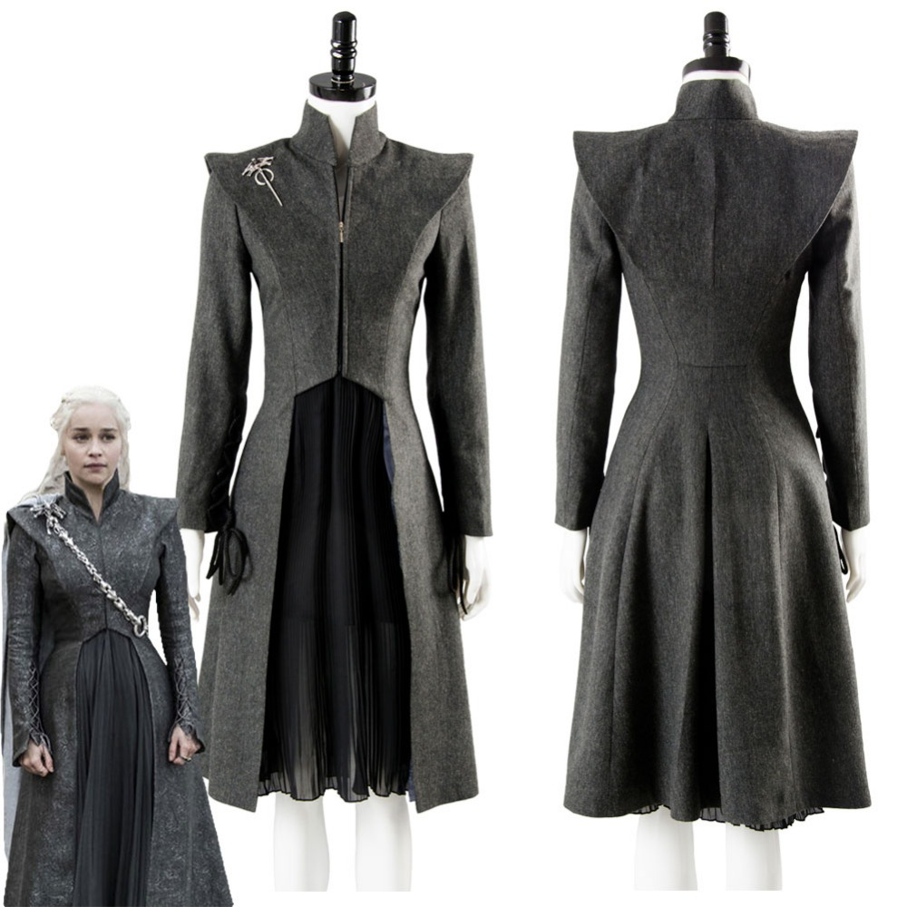GOT Game of Thrones Cosplay Season 7 Daenerys Targaryen Cosplay Costume Adult Women Dress Outfit Halloween Cosplay Costume