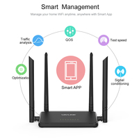 Wireless Wi Fi Router Smart Wifi Repeater Router AP 300Mbps Range Extender With 4 External Antennas