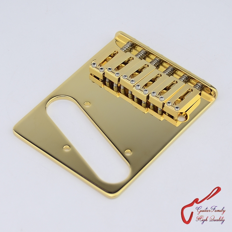 цена на Genuine Original GOTOH GTC201 Electric Guitar Fixed Bridge With B Saddle Gold MADE IN JAPAN