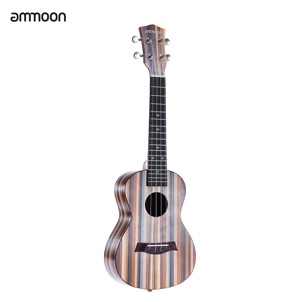 Delightful Colors And Exquisite Workmanship Learned Ammoon 24 Ukelele Uke 18 Frets 4 Strings Acoustic Ukulele Wooden Soprano Okoume Neck Rosewood Fingerboard Famous For Selected Materials Novel Designs