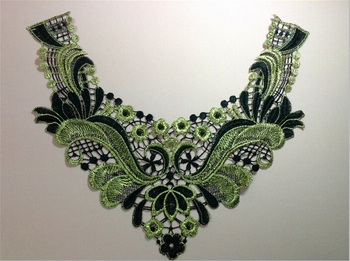 34.5cm*30cm polyester metallic embroidery collar applique,embroidery decoration collar,XERY0506D