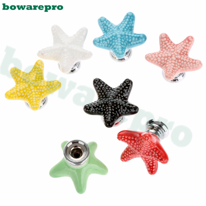 Online Shop Starfish Style Ceramic Door Knob Room Children Cupboard Cabinet  Drawer Suitable Kitchen Furniture Home Pull Handle 1pcs | Aliexpress Mobile