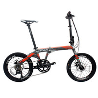 Folding Bike Aluminum Alloy 20 Inch 18 Speed Double Disc Brakes Adult Unisex Foldable Urban High Quality Bicycle