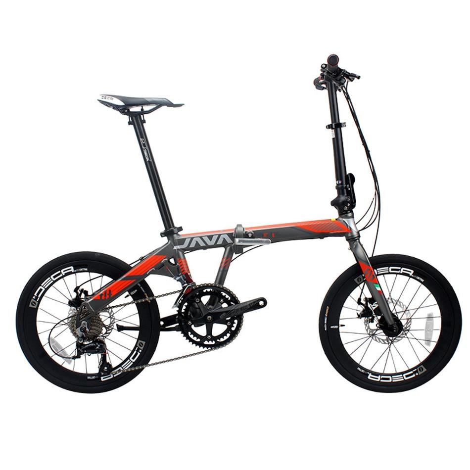 Vélo pliant en alliage d'aluminium 20 pouces 18 vitesses Double freins à disque adulte unisexe pliable urbain de haute qualité vélo
