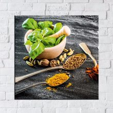 Canvas Poster Kitchen Home Decor Frame 1 Piece/Pcs Spoon Grains Spices Pictures Printed Chili Food Painting Living Room Wall Art(China)