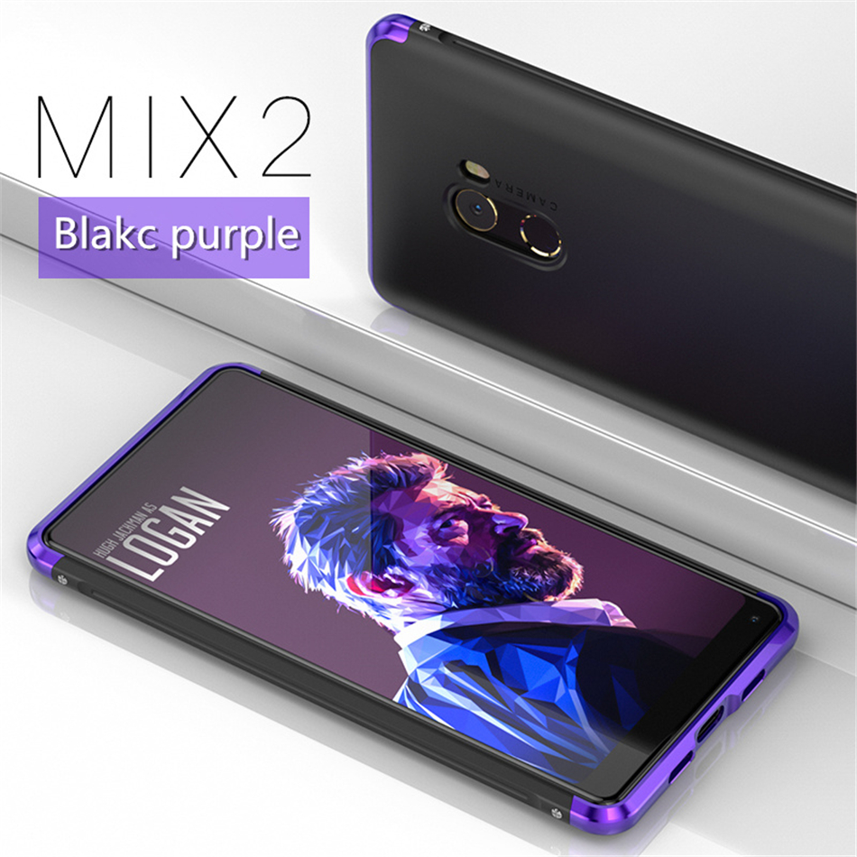 GINMIC Brand Case For Xiaomi Mi MIX 2 Luxury Aluminum Alloy Bumper + Hard PC Back Cover Shockproof Metal Case For MI 6 MIX2 MI6