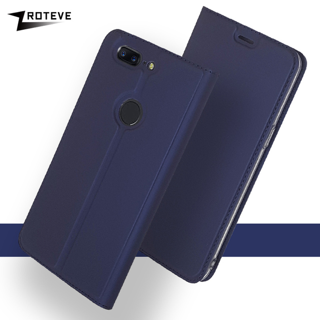 Oneplus 5T 5 6 T Case ZROTEVE Leather Wallet Cover For One Plus 5 T 6 T 6T Case Flip Leather Cover For OnePlus 5 T OnePlus5 Case