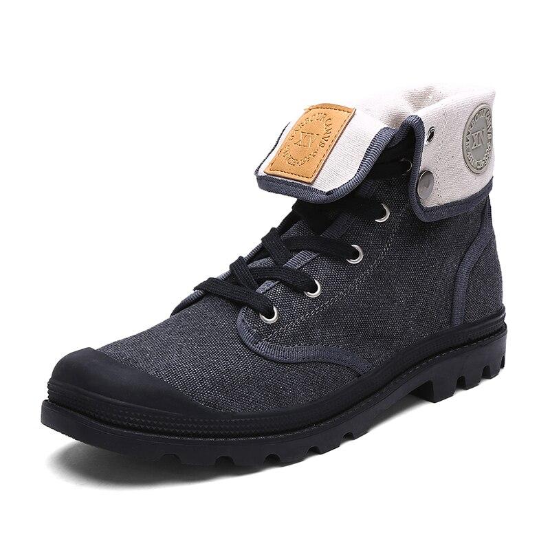 Noir Bottes High Top Casual Toile Unisexe Moto Cheville Mode Militaire gris Désert Botas 2016 Chaussons Chaussures Femmes De Cowboy rouge jaune Nv0m8nwO