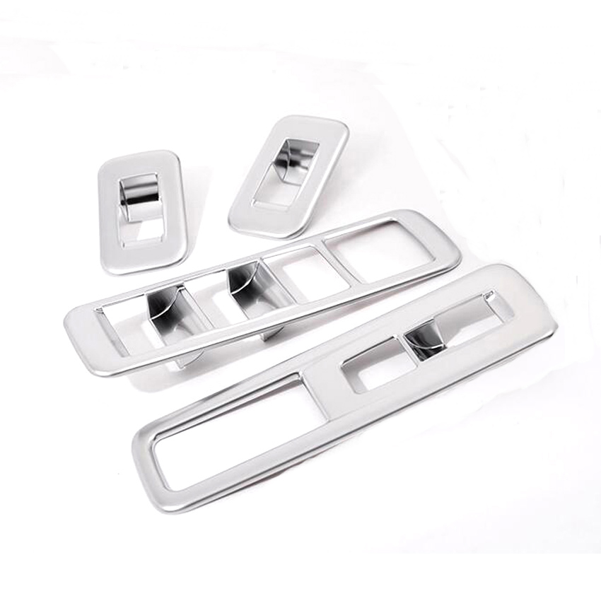 4Pcs/set Chrome Car Interior Door Armrest Window Lift Button Switch Frame Trim Styling For <font><b>Lexus</b></font> <font><b>RX200t</b></font> 450h LHD 2016 image