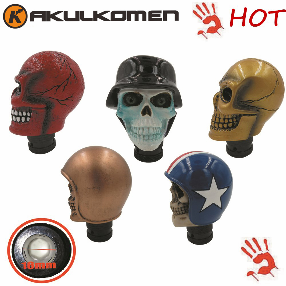 Awesom Gift Gear Shift Knob Car Horrible Skull Head Universal Stick Modified for All cars BMW Benz Ford Toyota Ford Nissan Mazda