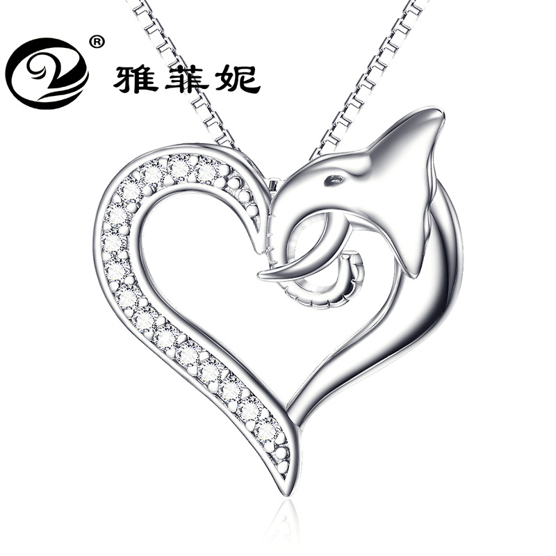 crystal necklace Like love life pendant 925 sterling silver jewelry wholesale undertakes to valentine's day gift