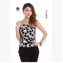 Contracted joker with spring/summer Breathable double-sided silk knitting wave wrinkle condole belt vest