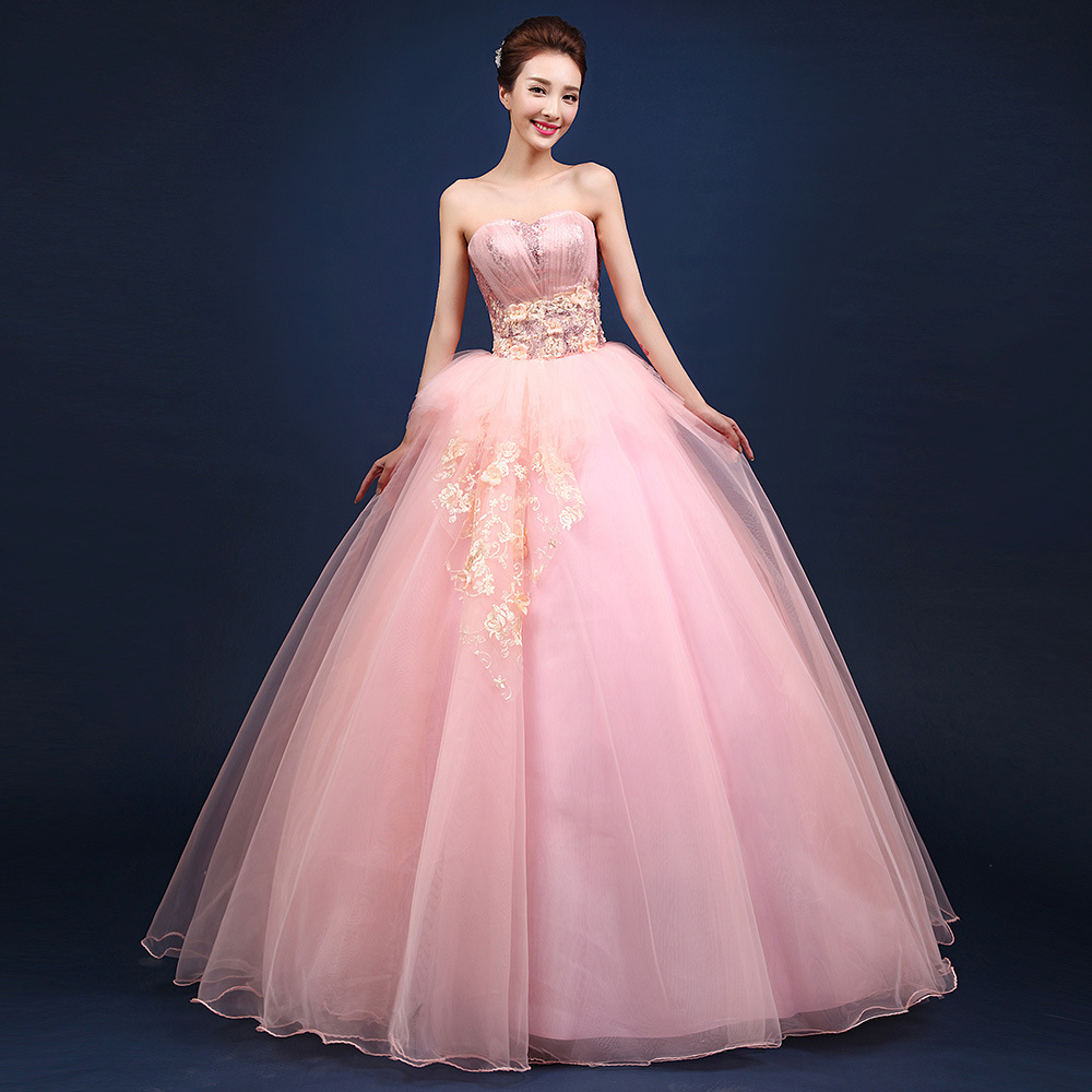 Image 2 - Pink Tulle Quinceanera Dresses Sleeveless Tulle With Lace Ball  Gown Sweet 16 Years Dress Vestidos 15 AnosQuinceanera Dresses   -