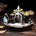 Курильница для благовоний горелка Декор для дома керамическая подставка для ароматических палочек курильница + 10 шт. пирамидки благовоний