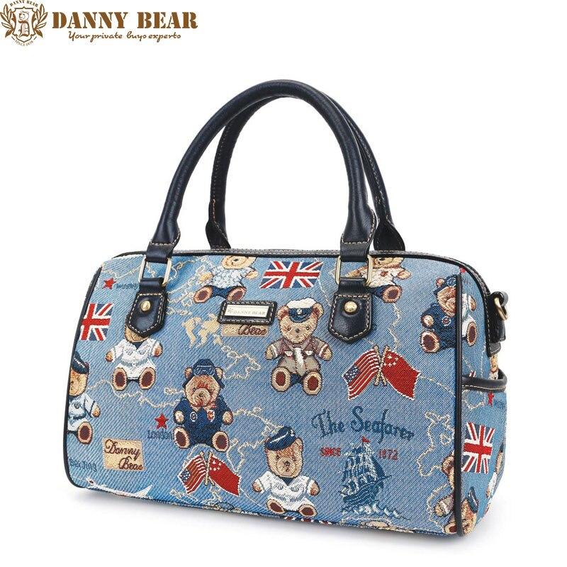 DANNY BEAR Large Shoulder Bags Original Brand Designer Female Handbags Blue Korean Style Women Crossbody Bags Fashion Tote Bags
