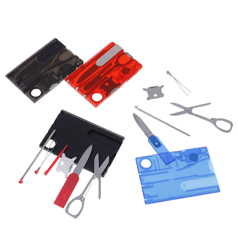 10 In1 Pocket Credit Card Survival Outdoor Camping Tool Tactical Knife Fork Sets Multi Portable Purpose Bottle Opener EDC Tools image