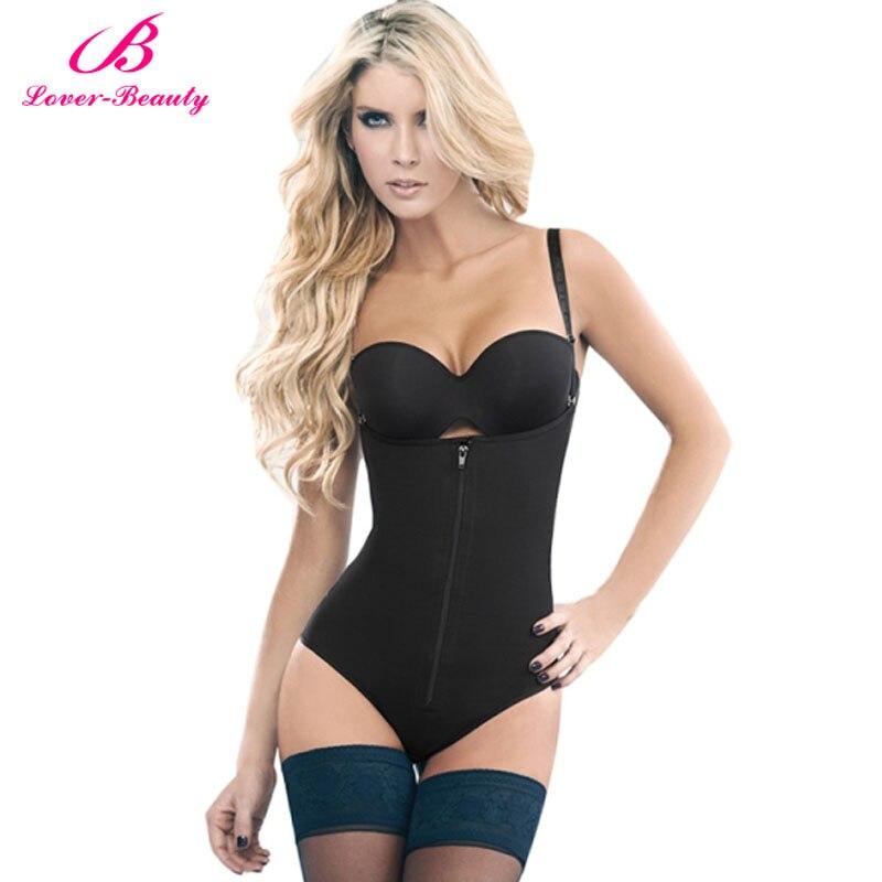 bb3db6a4504 ... Lover Beauty Women s Seamless Firm Control Shapewear Open Bust Bodysuit  Slimming Body Shaper Underbust Black Full ...
