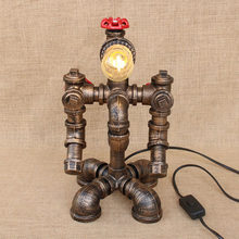 American country art deco modern steam punk table lamp e27 / e26 study desk lamp for bedside bedroom/living room/office/bar/cafe(China)
