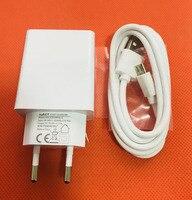 Original Travel Charger EU Plug Adapter+ USB Cable for Oukitel K6000 Pro MT6753 Octa Core 5.5