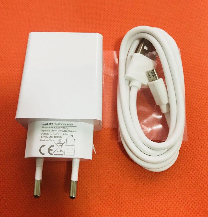 Original Travel Ladegerät Eu-stecker-adapter + Usb-kabel für Oukitel K6000 Pro MT6753 Octa-core 5,5