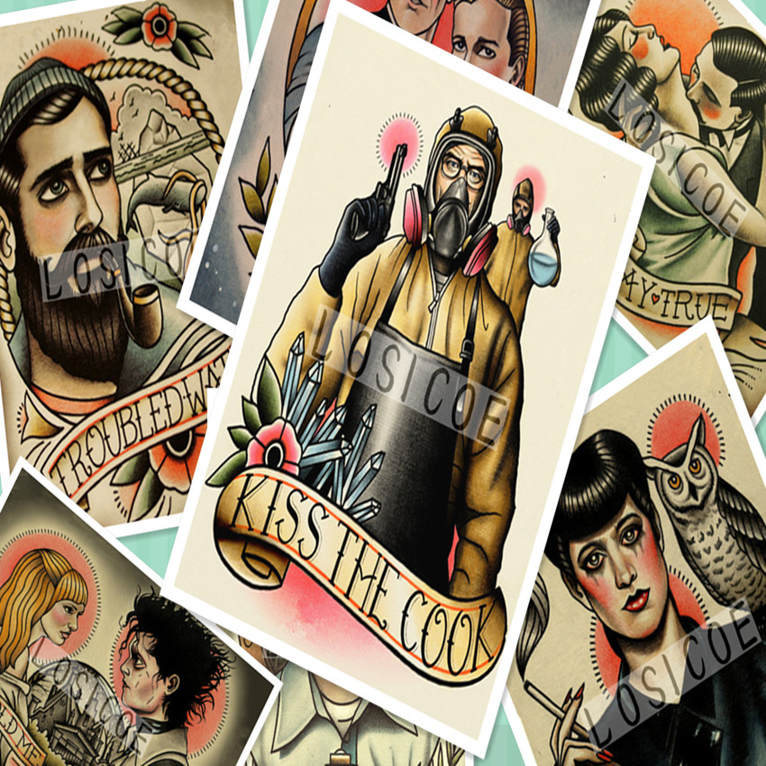 Galleria barber tattoo all Ingrosso - Acquista a Basso Prezzo barber tattoo  Lotti su Aliexpress.com dcd5d2205256