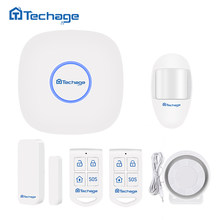 Techage S1 Wifi GSM GPRS Alarm System Home Security PIR Motion Detector Smart Sensor APP Control Wireless Alarm System DIY Kit(China)
