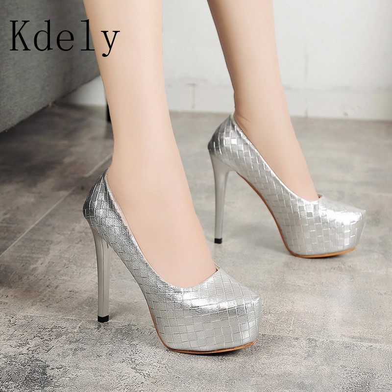 women Super <font><b>High</b></font> <font><b>Heels</b></font> <font><b>18cm</b></font> shoes Concise 8CM platforms shoes pumps Wedding Party <font><b>Sexy</b></font> leather shoes zapatos image
