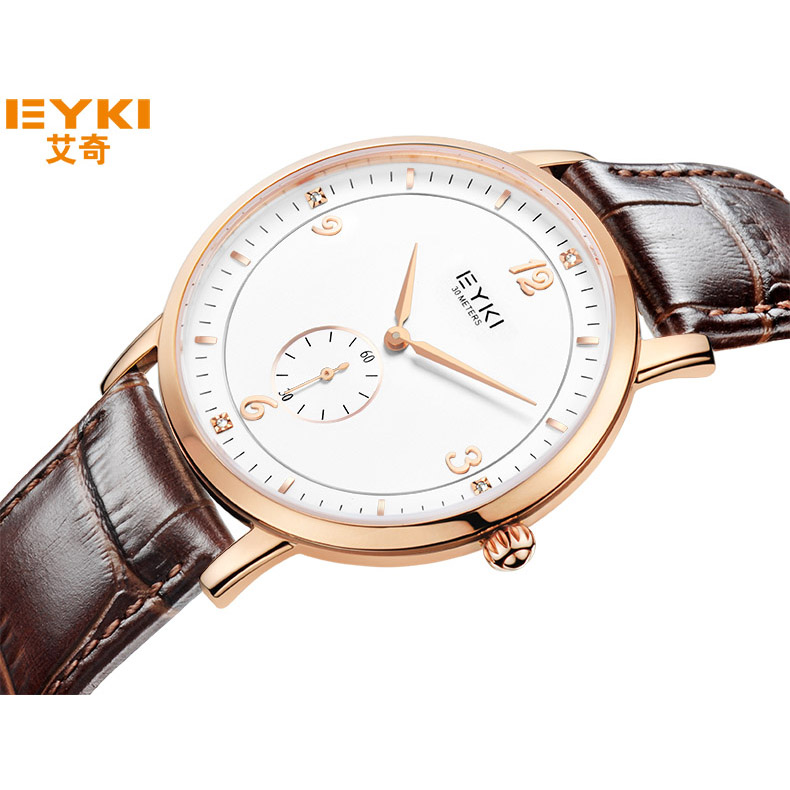 New Leather Strap Couple Tables Lovers Watches Fashion Inlay Rhinestone Waterproof Quartz Watch Women Clock Wristwatches For Men