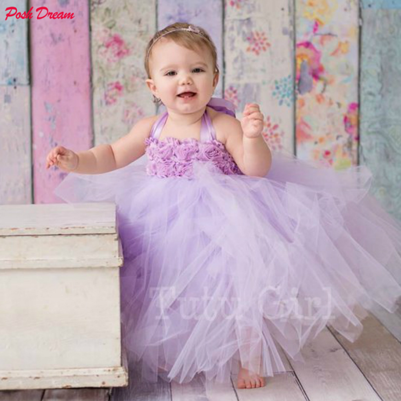 POSH DREAM Lavender Flower Girl Tutu Dress Costume Kids Princess Lavender Kids Dresses for Girls Shabby Flower Baby Tutu DressesPOSH DREAM Lavender Flower Girl Tutu Dress Costume Kids Princess Lavender Kids Dresses for Girls Shabby Flower Baby Tutu Dresses