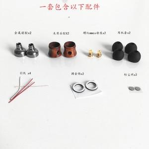 Image 2 - 10mm 이어 쉘 플러그 가능 mmcx 핀 나무 껍질