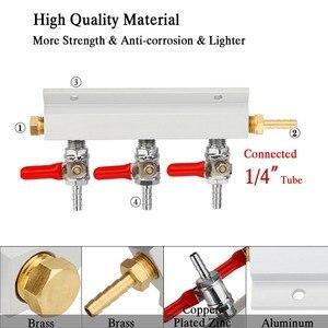 Image 4 - 3 웨이 CO2 가스 분배 블록 매니 폴드 스플리터 (7mm 호스 바브 포함) 홈 양조 밸브 초안 맥주 분배 케그 (4 클램프 포함)