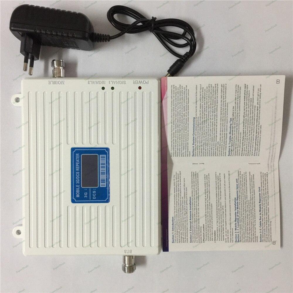 Amplificateur de signal cellulaire à double bande 2g 4g lte 1800 MHz dcs booster UMTS 3g 2100 MHz amplificateur de répéteur - 2