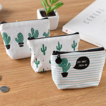 Cartoon Cute Small Kids Women's Purse Coin Wallet Coin Purse Money Pouch Cactus Change Pouch Key Holder Bag цена в Москве и Питере