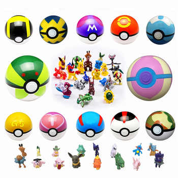 Multicolor PokeBall Set Toys Pet pokebolas Poke Action Figure Pikachu Charmander Squirtle Charizard figure Stickers Game Ball - DISCOUNT ITEM  48% OFF All Category