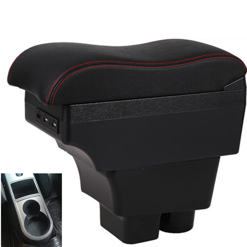 For Skoda Rapid Spaceb Armrest Box Central Store Content Storage Box Armresrt Products USB Interface