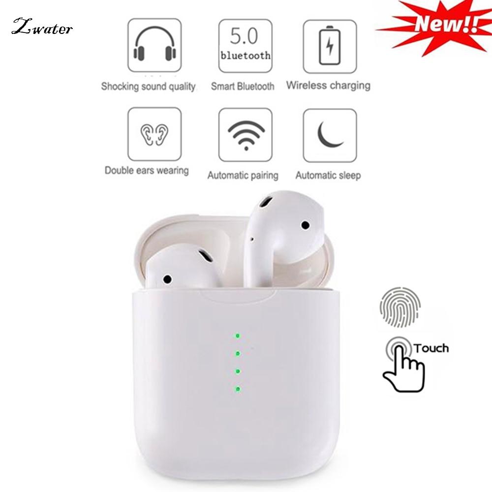 Nouvelle i10 TWS Double Mini Sans Fil Bluetooth Écouteur tactile Écouteurs Avec Boîte De Charge Micro Pour Iphone7, 8, X Samsung Android Xiaomi