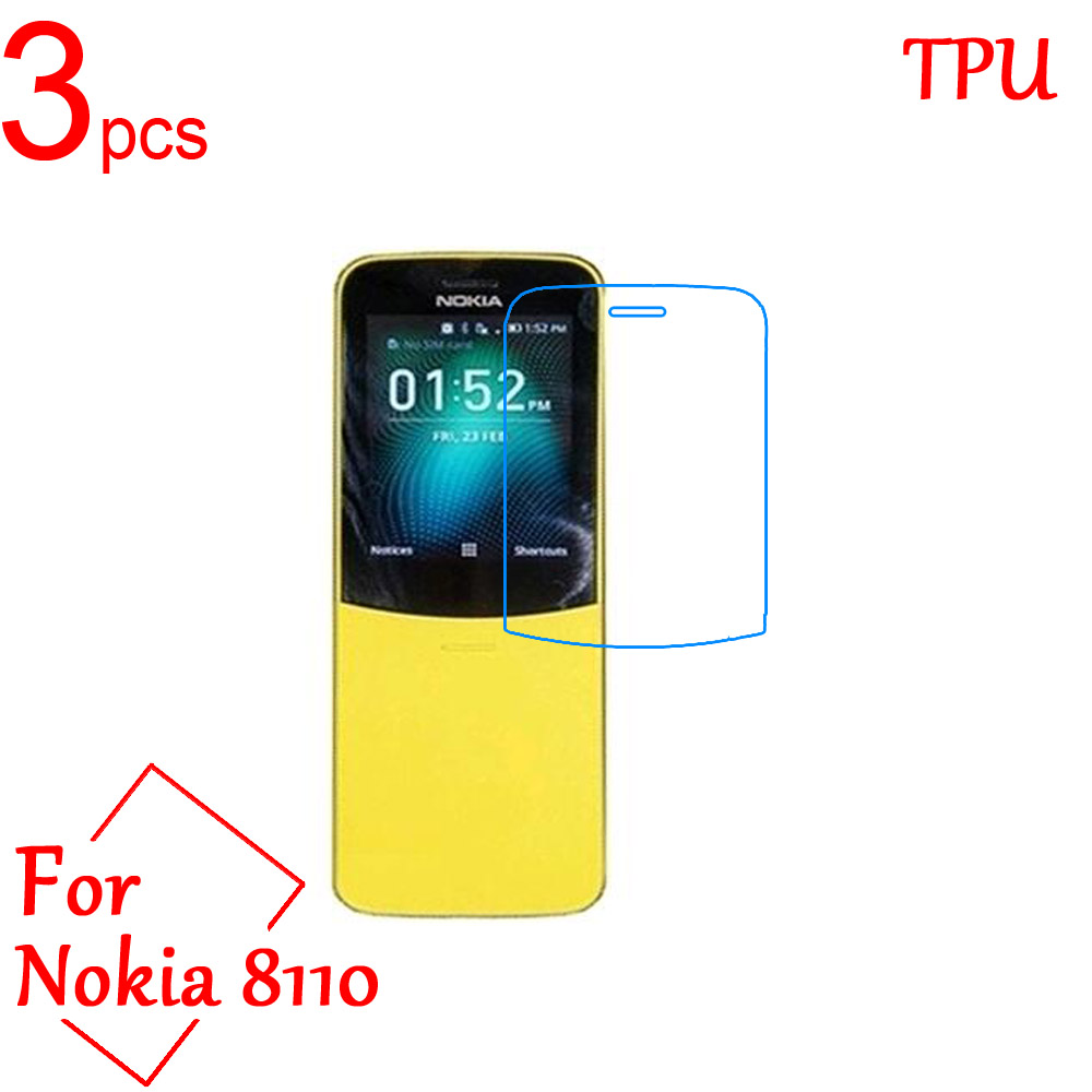 3pcs Ultra Clear TPU Soft LCD For <font><b>Nokia</b></font> <font><b>8110</b></font> Screen Protector Film Cover For <font><b>Nokia</b></font> <font><b>8110</b></font> <font><b>4G</b></font> Protective Film (Not Tempered glass) image
